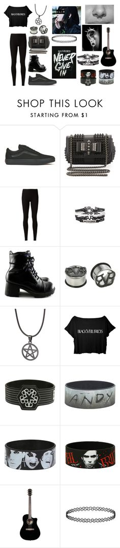 """""""Black Veil Brides Contest Crop Top"""" by abipatterson ❤ liked on Polyvore featuring Vans, Christian Louboutin and Rick Owens Lilies"""