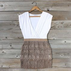 Tucked Lace Dress in Fawn, Sweet Women's Country Clothing Cute Country Outfits, Cute Outfits, Simple Dresses, Summer Dresses, Summer Clothes, Country Fashion, Fashion Outfits, Womens Fashion, Fashion Ideas