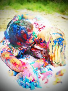Couples paint war:) Like me on Facebook Lacy's Photography