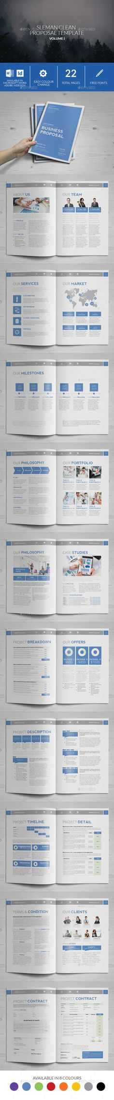 Basic Proposal Template Proposal templates, Cleaning companies - it services proposal template
