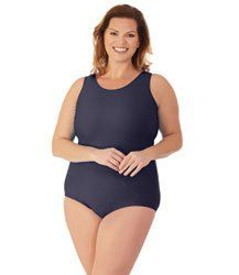 00308ff830b31 QuikEnergy lus size tall swimwear with wide straps by JunoActive Women's  Plus Size Swimwear, Separates