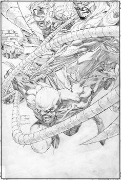 Joe Quesada - Cover layout of Wolverine: Origins #7