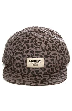 Crooks and Castles Snapback: The 5 Panel in Cheetah - You can find all your smoking accessories right here on Santa Monica #CrooksAndCastles #Teagardins #SmokeShop