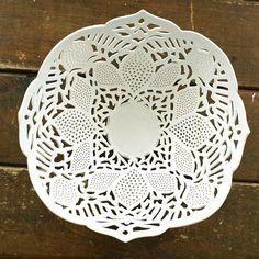 Carved Porcelain Fruit Bowl by Isabella Bramson
