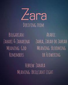 Zara 🌻 definingnames names babynames namesuggestions baby+ baby girl names Hebrew Girl Names, Arabic Baby Girl Names, Islamic Baby Names, Baby Girl Names Elegant, Girl Names With Meaning, Baby Names And Meanings, Unique Baby Names, Names Baby, Turkish Names