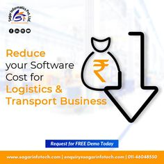 Software solutions for logistics & transport Industry. Grow your audience and also revenue in the Transport Business market with our efficient Transport Management Software. For more details contact us @ +91-9311746788, +91-9311133772, or visit here: www.sagarinfotech.com #Software #Logistics #Transportation #ImproveOperations #TransportSoftware #LogisticsSoftware #CloudBasedSolution #TransportManagementSoftware #LogisticsManagementSoftware Cloud Based, Supply Chain, Business Marketing, Communication, Digital Marketing, Transportation, Software, Management, Letters