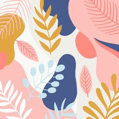 Abstract floral background in flat design , Motif Floral, Floral Prints, Art Prints, Plant Illustration, Floral Illustrations, Mural Art, Abstract Backgrounds, Simple Backgrounds, Paint Designs