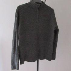 Vintage Jumper. Grey Howick 100% Wool Sweater. Wool Jumper.