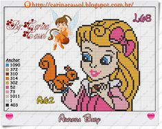 Baby Aurora perler bead pattern by Carina Cassol - Pontinhos Mágicos