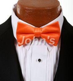 Neon Orange Simply Solid Bow Tie