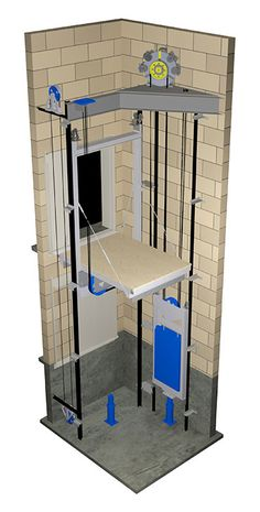 Elevator - Traction - Gearless - Machine Room-Less (MRL)