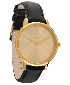 Nixon The Kensington Leather Watch Gold One Size. Nixon The Kensington Leather Watch Gold One Size. G Shock Watches, Watches For Men, Nixon Watches, Gold Watches, Active Ride Shop, Bracelet, Elegant, My Style, Stuff To Buy