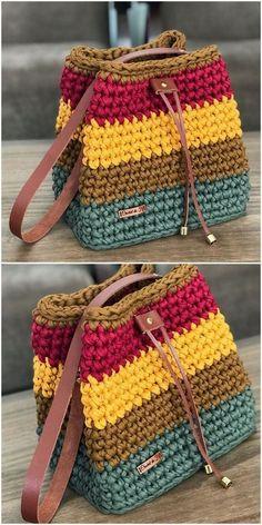 Bag Crochet, Crochet Handbags, Crochet Purses, Love Crochet, Crochet Crafts, Crochet Clothes, Crochet Baby, Crochet Projects, Crochet Ideas