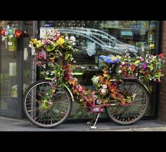 flowers bike