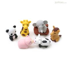You can just hear the squeal of delight from your niece or nephew as you reveal this zoo themed eraser set to them.