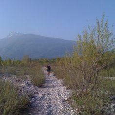Prove percorso 100 miglia dai Magredi alle Dolomiti...