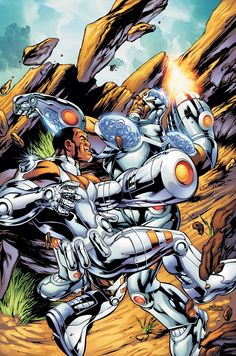 #Cyborg #Fan #Art. (DC Special Cyborg Vol.1 #5 Cover) By: Jonathan Smith. ÅWESOMENESS!!!