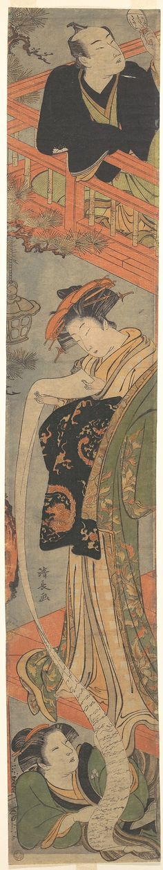 Torii Kiyonaga (Japanese, 1752–1815). The Love Letter, late 18th century. Edo period (1615–1868). Japan. The Metropolitan Museum of Art, New York. Rogers Fund, 1920 (JP1210)