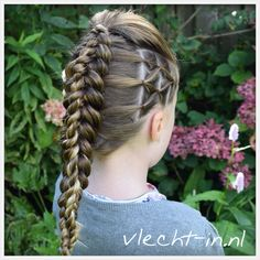 Stacked braid. Dutch braid / twist braid combination.