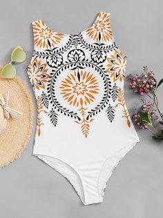 474a9d9d1b823 Random Pattern Swimsuit. Swimsuit PatternOne Piece ...