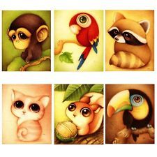 5D Diy Diamond Painting Cartoon Animal Picture for Child Cross Stitch Embroider