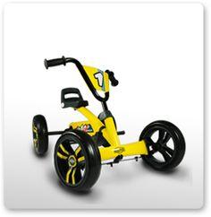 colour:yellow Moni children go-kart fever handbrake plastic tyres pedal car from 3 years