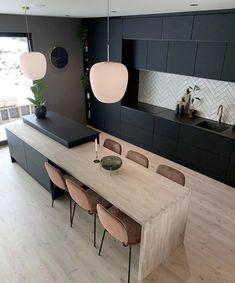Modern Kitchen Design, Interior Design Kitchen, Modern Interior, Fall Home Decor, Home Decor Trends, Shabby Chic Kitchen, Home Decor Shops, Cuisines Design, Küchen Design