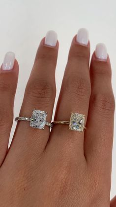 Radiant Engagement Rings, Beautiful Engagement Rings, Engagement Ring Cuts, Beautiful Rings, Wedding Engagement, Affordable Engagement Rings, Tiffany Engagement, Solitaire Engagement, Diamond Rings