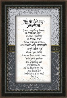 The Lord Is My Shepherd Framed Textual Art