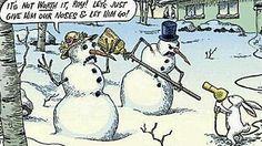 Funny Snowman Cartoon Joke - Best Funny Jokes and Hilarious Pics Funny Christmas Cartoons, Christmas Comics, Funny Christmas Pictures, Christmas Jokes, Funny Cartoons, Funny Comics, Funny Jokes, Hilarious, Merry Christmas
