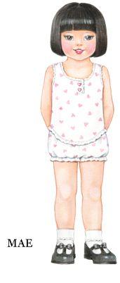 Big Sister & Little Sister Paperdolls Free Paper Dolls, Patty Reed Paper Dolls | Patty Reed Designs