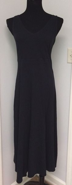 $  22.50 (13 Bids)End Date: Jun-26 20:23Bid now  |  Add to watch listBuy this on eBay (Category:Women's Clothing)... Check more at http://salesshoppinguk.com/2017/06/27/eileen-fisher-womens-black-vneck-midi-dress-cotton-size-small/