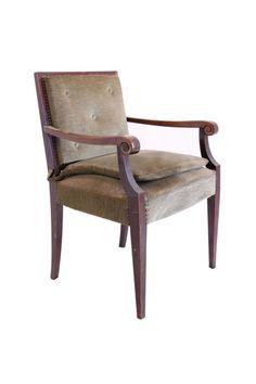 fancy vintage velvet chair