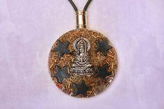 Orgonite Pendant Goddess Of Mercy Hematite by OrgoniteVibration, $42.00