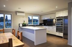 A lovely kitchen to get going in every morning Furniture, House, Table, Kitchen, Home, Modern Kitchen, Modern, Home Decor