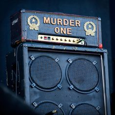 "Motorhead, Lemmy Kilmister's Marshall amp ""Murder One"". Everyone likes this pin :-)"