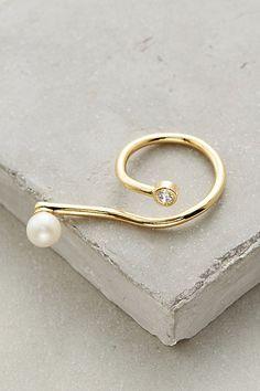 Pearl Twist Ring #anthropologie