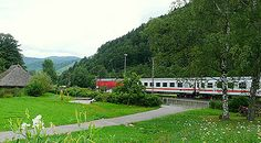 Black Forest line - Scenic train from Offenburg to Konstanz Germany (one of the oldest mountain lines in the world)