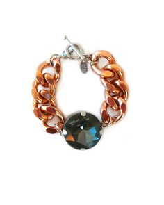 Chunky Charcoal Crystal Bracelet