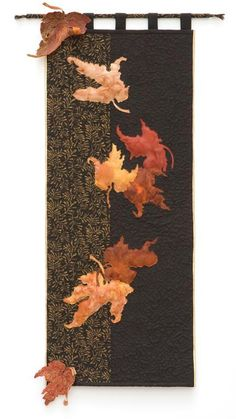 Falling Leaves quilted wall hanging. Gorgeous!!