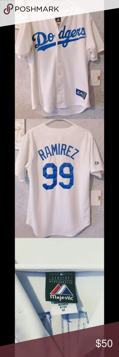 Dodgers Jersey ⚾️ Ramirez Jersey 💎 Majestic Shirts