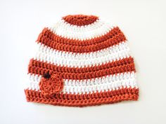 Baby Pumpkin Hat Striped Hat Crocheted Fall by PreciousBowtique