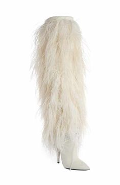 dc74d66a12 Saint Laurent Yeti Tall Boot (Women) Womens Thigh High Boots, Fur Boots,