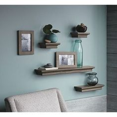 Target Floating Shelves Extraordinary Amazonsmile  Nexxt Classic Set Of 4 Multilength Floating Ledge