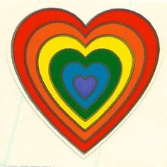 Vintage 80's Illuminations Rainbow Heart Sticker