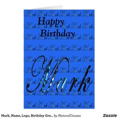 Happy birthday noah greeting card happy birthday and birthdays mark name logo birthday greeting card card m4hsunfo