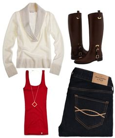 """OOTD---Christmas Dinner with Family"" by southernbelle ❤ liked on Polyvore"