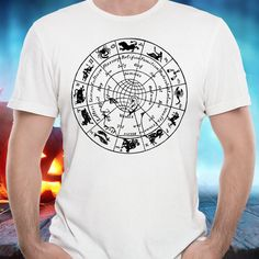 Vintage Zodiac Signs Astrological Map Unisex by ArtfulColorDesigns