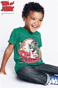 Buy Green Tom And Jerry T-Shirt (3mths-6yrs) from the Next UK online shop