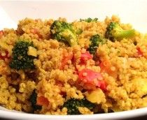 Try Indus Turmeric and Quinona to make this healthy vegan recipe.with ANY quinoa recipe--rise and then toast in oil. For this recipe I used coconut oil, added garlic. While simmering the quinoa I added some GOLDEN CURRY in place of the powder Indian Food Recipes, Whole Food Recipes, Vegetarian Recipes, Cooking Recipes, Healthy Recipes, Syrian Recipes, Vegan Meals, Lunch Recipes, Yummy Recipes